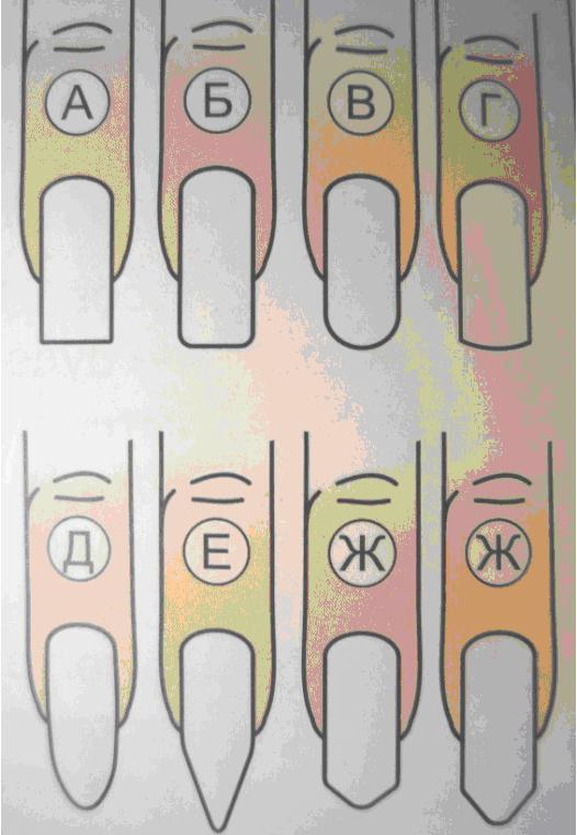 Форма ногтей рисунки